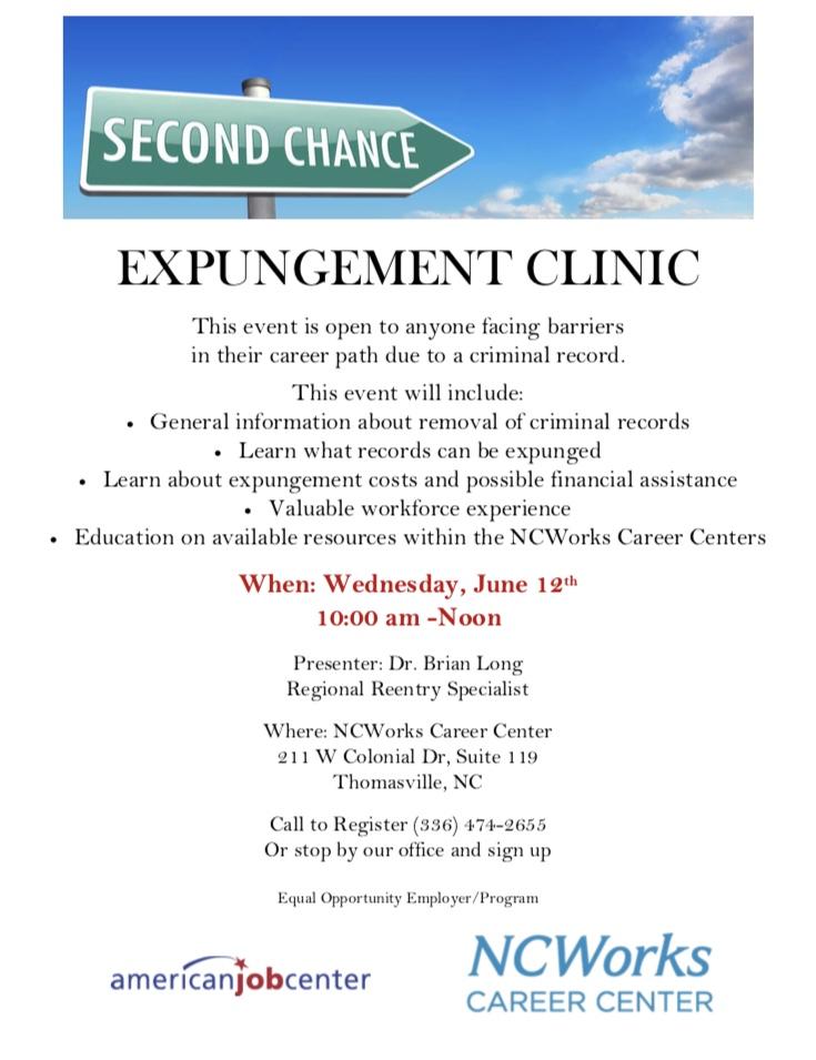 Expungement Clinic June