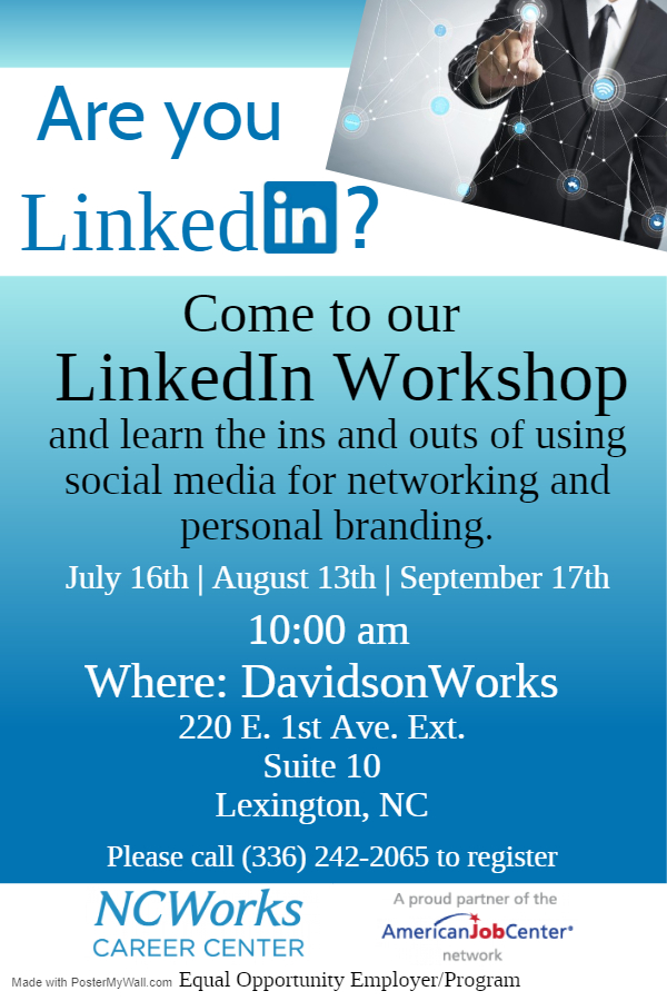LinkedIn Workshop July-Sept Lex