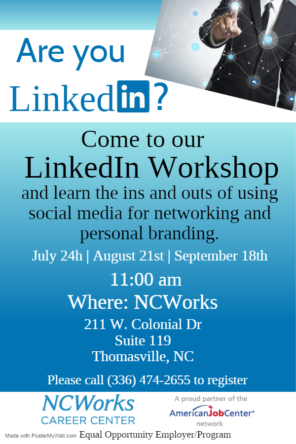 LinkedIn Workshop July-Sept Thomasville